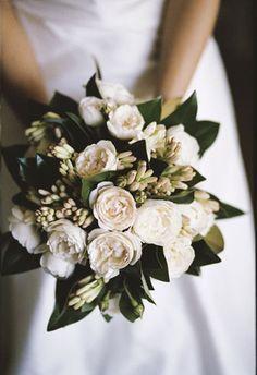 tuberose, magnolia leaves, david austin roses