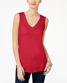 Shop Now - >  https://api.shopstyle.com/action/apiVisitRetailer?id=647858674&pid=uid6996-25233114-59 Inc International Concepts V-Neck Tank Top, Created for Macy's  ...