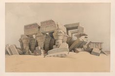 Kom Ombo. Nov. 21st, 1838.  [Ruins of the temple of Kom-Ombo, Upper Egypt.] (1838) by David Roberts