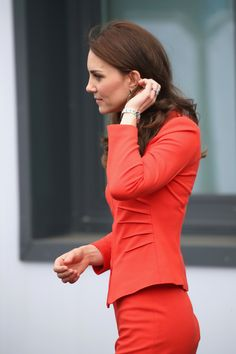 Catherine, Duchess of Cambridge departs after attending the official opening of The Global Academy in support of Heads Together at The Global Academy on April 20, 2017 in Hayes, England.