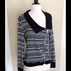 """Jessica Simpson Cardigan Sweater Wore/washed once. Tag says size large but would work for medium size too. Material is Polyester, rayon, spandex. Length is about 22"""" to 23"""". Underarm to underarm about 19"""" laying flat but there stretch since it's a sweater. Very cute! Jessica Simpson Sweaters Cardigans"""