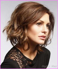 awesome Short haircuts for wavy brown hair