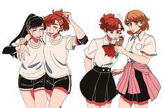 Persona Crossover, Persona 3 Portable, Character Art, Character Design, Shin Megami Tensei Persona, Persona 4, 3 Arts, Anime Life, Video Game Art