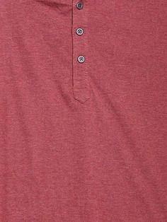 Dream of Glory Inc. Coral Red Henley T-shirt