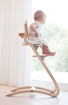Leander high chair - from baby to adult. Like a Stokke, I like the curve of this better....sorry Stokke :(