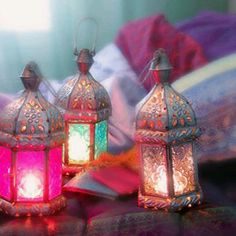 Straight from the bazaar of Marrakesh comes our Guide to Moroccan Entertaining! Learn the tricks, colors and style that make Moroccan design so exciting. Moroccan Lamp, Moroccan Lanterns, Moroccan Style, Moroccan Chandelier, Moroccan Bedroom, Moroccan Interiors, Lantern Lamp, Candle Lanterns, Hurricane Lanterns