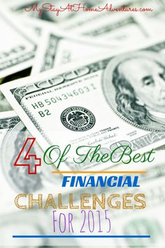 Best Financial Challenges for 2015 Starting or looking for the best financial challenge to kick off the new year. Find the best financial challenges for Ways To Save Money, Money Tips, Money Saving Tips, Budgeting Finances, Budgeting Tips, Financial Success, Financial Planning, Show Me The Money, Money Matters