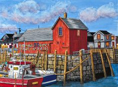 Winter Gallery - Artist Thelma Winter - Rockport Motif I - Maine (Powered by CubeCart) Barn Art, Ocean Scenes, Puzzle Art, Nautical Art, American Country, Winter Art, Large Format, Famous Artists, Tool Design