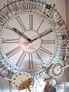 "spring for it!  Wow, I'm lookin' for a slinky that I can ""rust"" and put  around an old clock face.  This is wonderfully gorgeous."