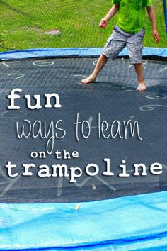 Fun games for kids to play on the trampoline (and learn a little during the fun!)