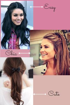 17 Quick and Easy back-to-school hairstyles (heatless)