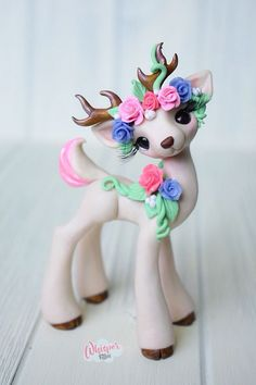 Whisper Fillies Belle Fleur Original Deer Sculpture Figurine Handmade doll | Dolls & Bears, Dolls, Art Dolls-OOAK | eBay!