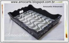 Bandeja copacabana com detalhe em relevo - mdf madeira http://www.amocarte.blogspot.com.br/