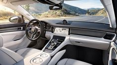 The two tone partial leather interior in black and luxor beige comes the 2017 porsche panamera gives you 550hp lots of tech and better looks fandeluxe Choice Image