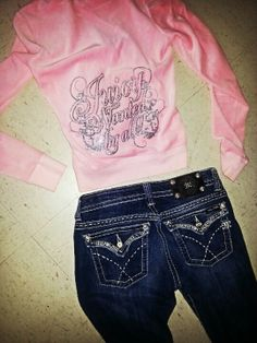 Juicy Couture hoodie with Miss Me jeans<3 Omg I must have these ASAP.