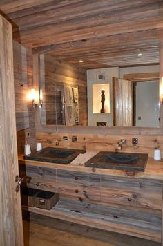 41 Impressive Chalet Bathroom Décor Ideas