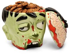 Think Geek Zombie Head Cookie Jar, Comes With Zombie Packaging , Black Friday