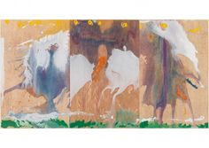 Helen Frankenthaler  Book of Clouds  2007  Aquatint etching, woodcut & pochoir with hand coloring  35 5/8 x 68 1/4 inches  Published by Pace Editions, Inc.  Edition of 30