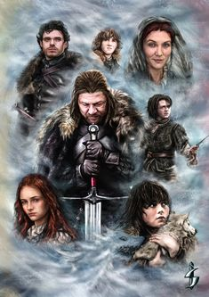 House Stark of Winterfell - Game of Thrones by SavaIvkov.deviantart.com on…
