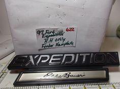 97-02 FORD EXPEDITION-EDDIE BAUER RH FENDER EMBLEM LOGO BADGE OEM STOCK-622 #FORDoem