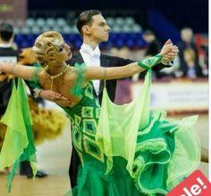 Green ballroom dance dress