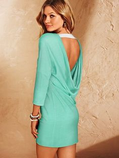 NEW! U-back Dolman-sleeve Dress #VictoriasSecret http://www.victoriassecret.com/clothing/dresses/u-back-dolman-sleeve-dress?ProductID=111464=OLS?cm_mmc=pinterest-_-product-_-x-_-x