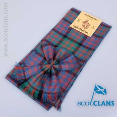 Wool mini sash in MacDonald ancient tartan - from ScotClans