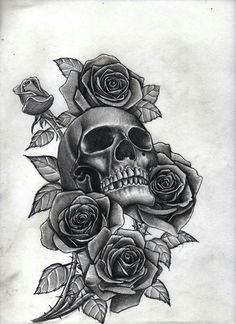 Skull With Roses, but I'd do mote of peonies, dahlias, & chrysanthemums