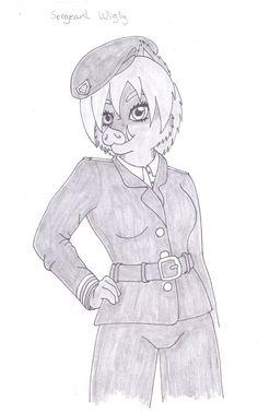 Sergeant Wigly by elleboe.deviantart.com on @DeviantArt