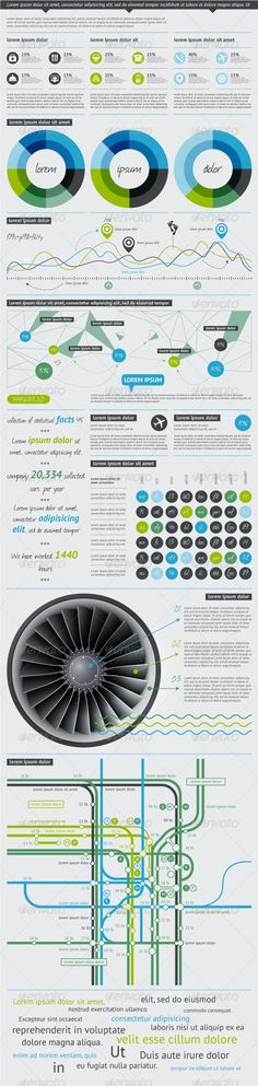 Elements of Infographics with Buttons and Menus  - GraphicRiver Item for Sale