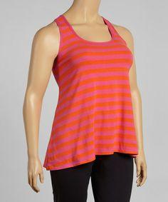 Look at this #zulilyfind! Passion Pink Stripe Lillian Tank - Plus #zulilyfinds