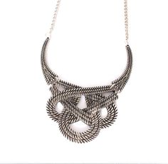 Hey, I found this really awesome Etsy listing at https://www.etsy.com/listing/191968355/silver-statement-necklace-golden-bib