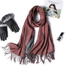 Girl Women Solid Pure Candy Long Crinkle Soft Scarf Wrap Voile Wraps Stole Shawl