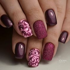 Cute Nails. Although I am not a fan of matt glitter finishes | Fashionable outfit ideas for women who love style.