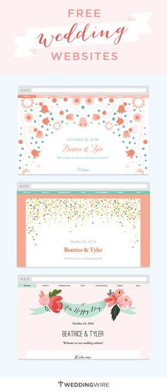 Create a free wedding website to share your info with family and friends! Plus it's easy and you can personalize it for your wedding style!