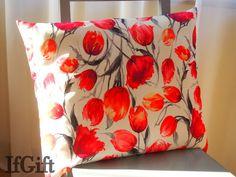 duża poduszka w tulipany w IfGift na DaWanda.com