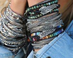 Stacking Bracelets, Silver CUFF Bracelets, Stacking Cuff Bangle Bracelet, ONE Silver Stacker Bracelet, Bangle Cuff Bracelets Boho Jewelry Sterling Silver Cuff Bracelet, Silver Bracelets, Bangle Bracelets, Stacking Bracelets, Silver Ring, Silver Earrings, Bracelet Charms, Diamond Bracelets, Silver Jewelry