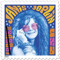Groundbreaking singer Janis Joplin (1943-1970), an icon of the 1960s whose bluesy voice propelled her to the pinnacle of rock stardom, appears on this new US stamp in the Music Icons series. Issue Date: August 08, 2014 Art Director/Designer: Antonio Alcala