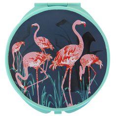 Collective Noun Flamingo Compact Mirror.