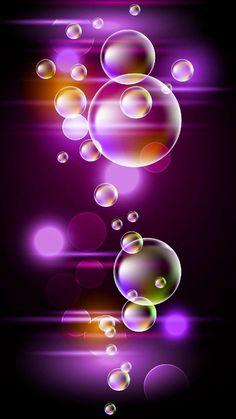 Bubbles By Artist Lydia Bubbles Wallpaper, Neon Wallpaper, Apple Wallpaper, Butterfly Wallpaper, Cute Wallpaper Backgrounds, Pretty Wallpapers, Colorful Wallpaper, Colorful Backgrounds, Phone Screen Wallpaper