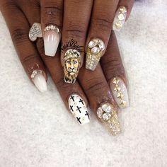 #lion#nails#nailart #naildesign#handpainted+