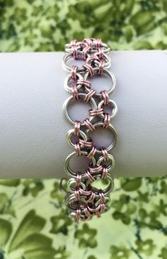 Cherry Blossom Pink Bubbles Hodo Chainmaille by DaisiesChain