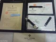 Patek-Philippe-Calatrava-3923-S-S-Manual-w-Folder-Papers-Tag-amp-Extra-strap-MINT