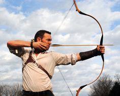 An arrow begins its flight.
