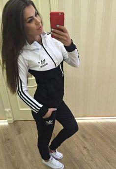 da85a46cb8363 jumpsuit black and white adidas tracksuit adidas originals jacket sweater  addias sweater leggings girl shirt nike