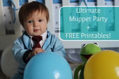 Muppet Themed Birthday Party Details and FREE Printables