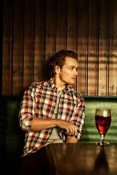 Imagen de GQ Magazine, Four ways to keep smart and stylish with Barbour. #SamHeughan #Barbour
