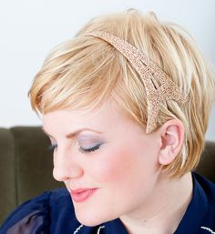 Eiffel Tower Champagne Beaded Headband by Bethany Lorelle on Etsy