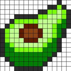 Avocado_Perler by ReginaRegenbogen on Kandi Patterns