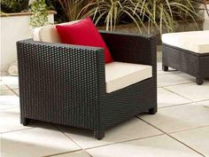 Black Modular Rattan Chair - Perfectly compliments our Barcelona modular sofa set - Garden ideas 2015 - by Living It Up
